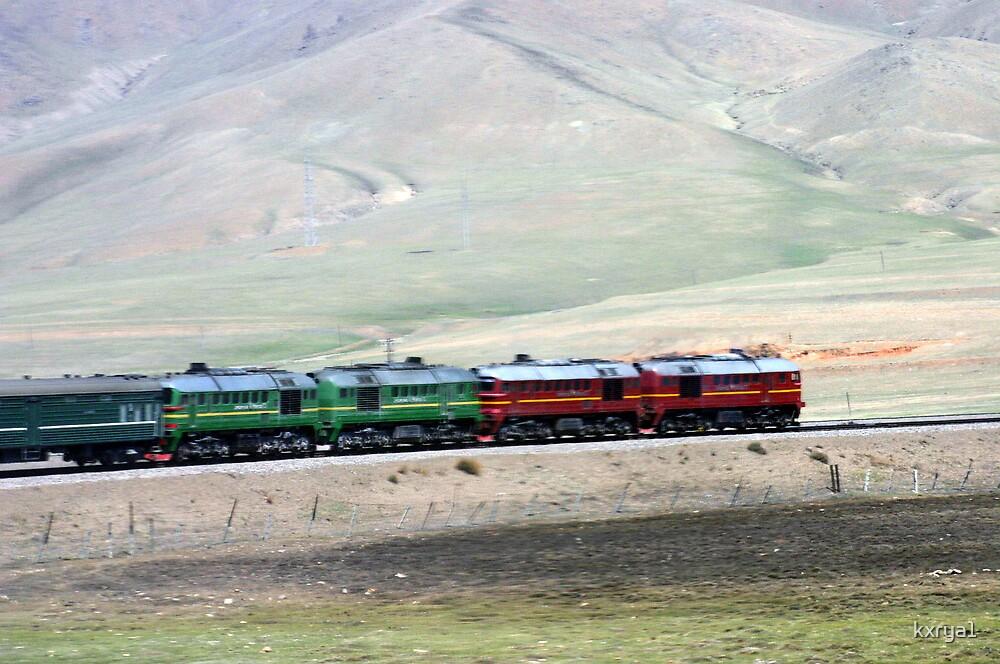 Train through the Gobi - Mongolia by kxrya1