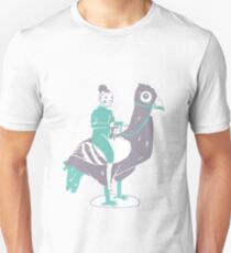 Lady Fate and Pigeonzilla T-Shirt