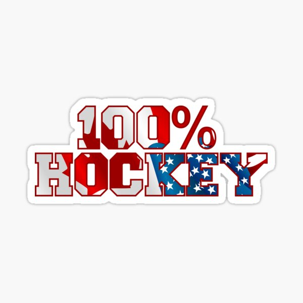 100% Hockey Sticker