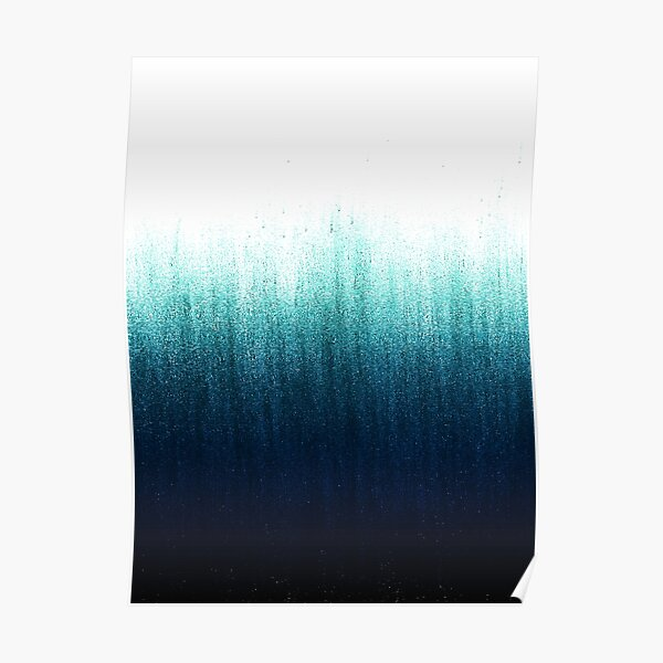 Teal Ombre  Poster