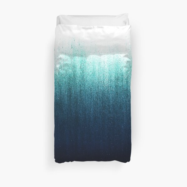 Teal Ombre  Duvet Cover