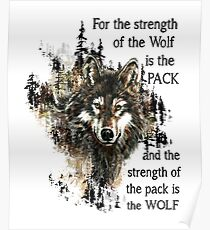Wolves Quote Posters | Redbubble