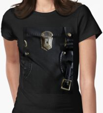 Leather and Zippers Women's Fitted T-Shirt