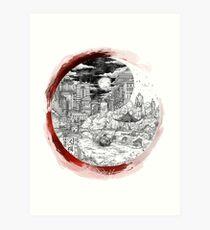 Yin yang illustration Art Print
