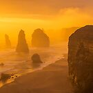 Sunset. The Twelve Apostles. by Mark Higgins