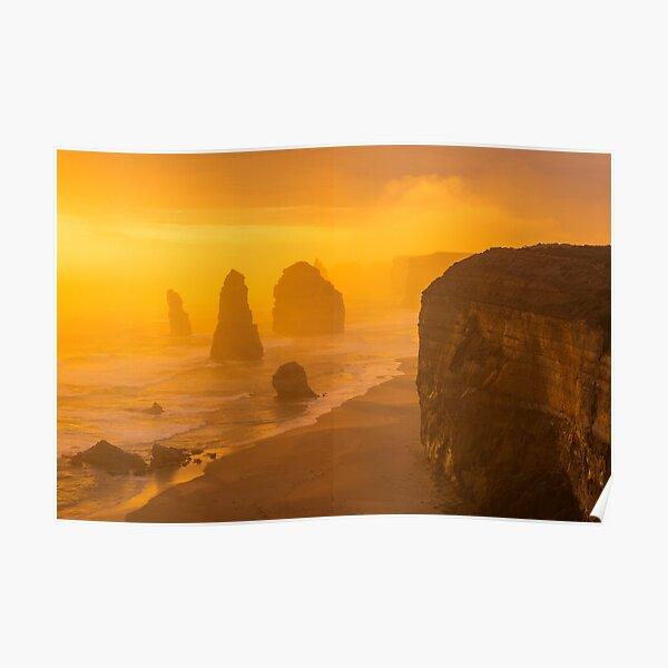 Sunset. The Twelve Apostles. Poster