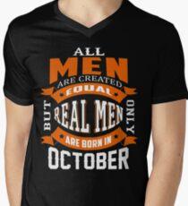 All Men - Real Men Are Born in October Tshirt T-Shirt