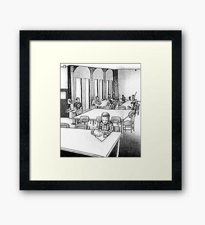 Table For One Framed Print