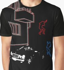Science Fiction Neon Blur Graphic T-Shirt