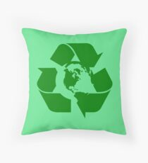 Earth Day Recycle Reuse Reduce Design Throw Pillow