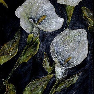 White Calla Lilies by LindaCorbitt