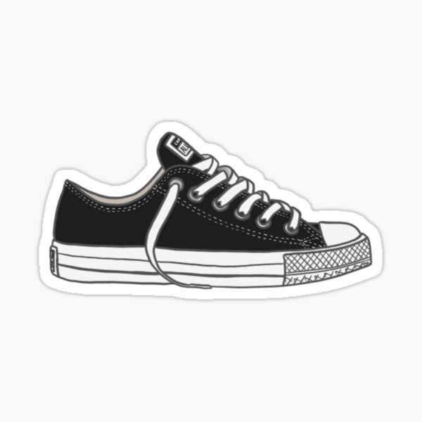 Black Converses Sticker