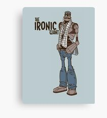 The Ironic Giant Canvas Print