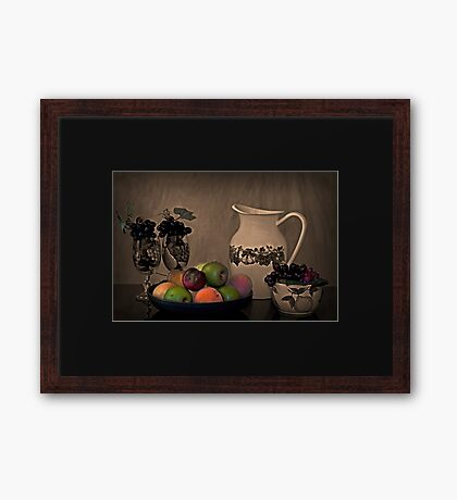 Healthy Eating and Health Drinking Framed Print