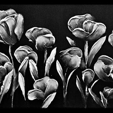 White Poppies by LindaCorbitt