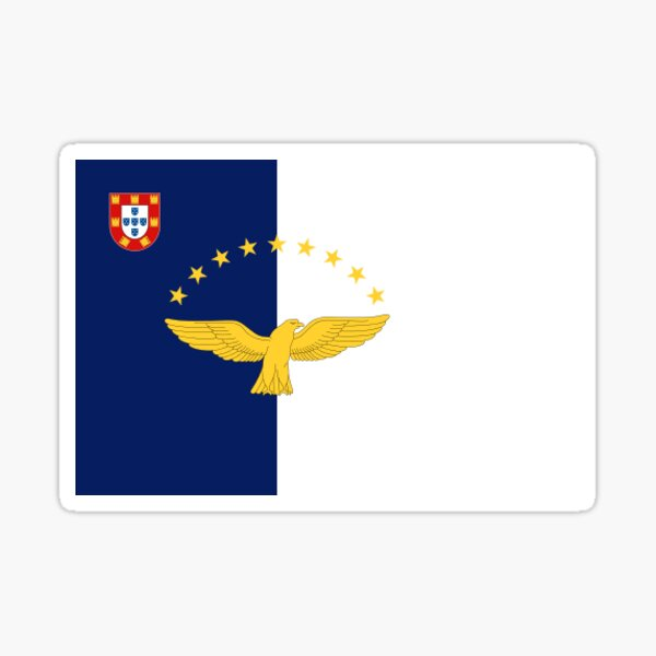 Flag of the Azores  Sticker