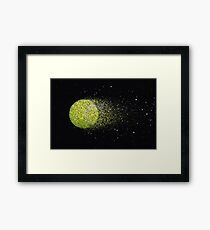 Tennisball Glitzer Gerahmter Kunstdruck