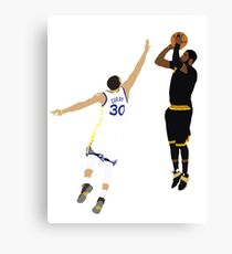 Kyrie Irving Clutch Shot Over Stephen Curry Canvas Print