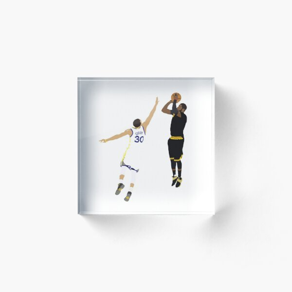 Kyrie Irving Clutch Shot Over Stephen Curry Acrylic Block