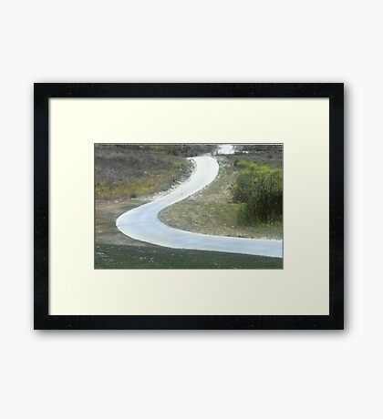 Every Day Is A Winding Road.. Framed Print