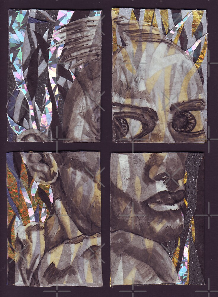 Pained Expression - Tetraptych by DreddArt