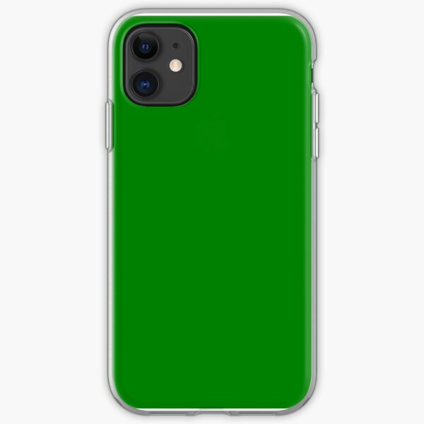 SOLID PLAIN APPLE GREEN -100 GREEN SHADES ON OZCUSHIONS ON ALL PRODUCTS iPhone Soft Case