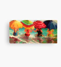 Fun With My Beaches Canvas Print