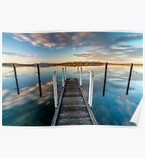 Sunset reflections at Mallacoota, Victoria, Australia Poster