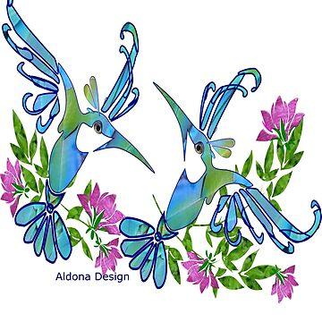 Birds & Flowers by aldona