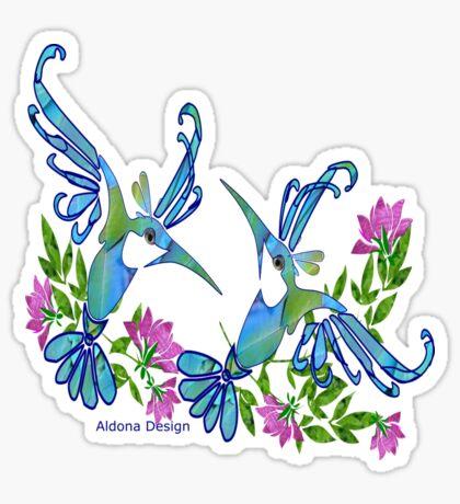Birds & Flowers Sticker