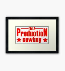 Production cowboy Framed Print