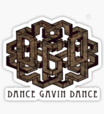 Dance Gavin Dance Wood Sticker