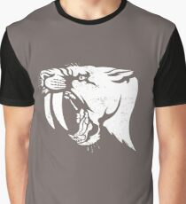 saber tooth cat stencil Graphic T-Shirt