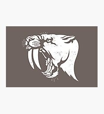 saber tooth cat stencil Photographic Print