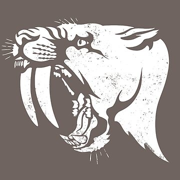 saber tooth cat stencil by morden