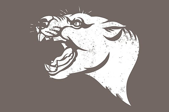 Thylacoleo stencil by Richard Morden