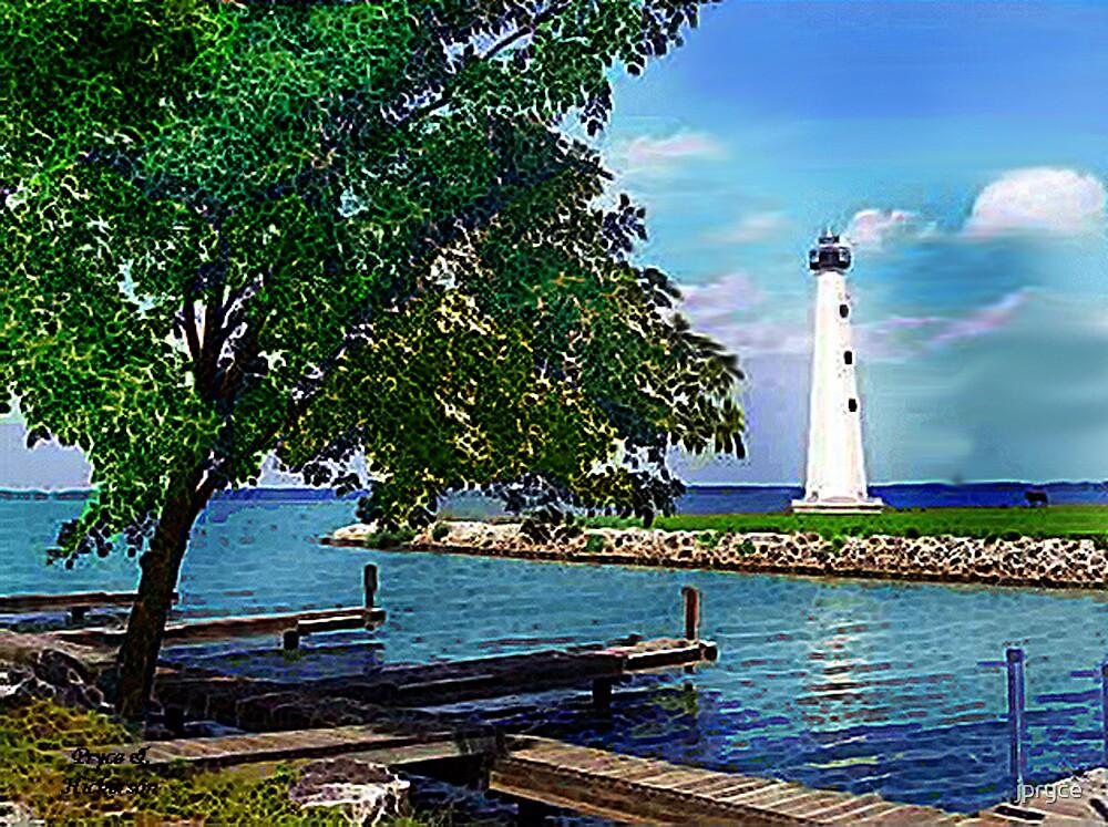 Lighthouse Grand Lake St Mary's by jpryce