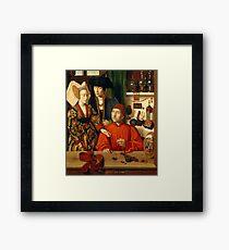 A Goldsmith in his Shop 1449 Petrus Christus Framed Print