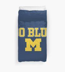 Go Blue Michigan Block M Duvet Cover