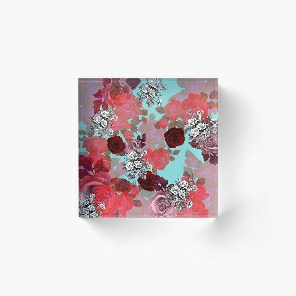ROSEN'Rose #redbubble #giftoriginal Acrylic Block