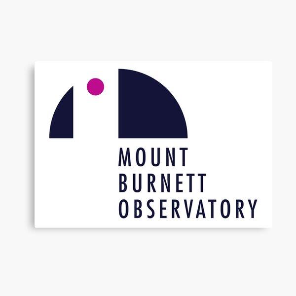 Mount Burnett Observatory Logo Canvas Print