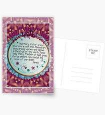 Hail Mary Greeting Card Postcards