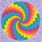 2303 - Coloured Spiral in nearly Perfect Circle before Lilac and Airbrushed by tigerthilo