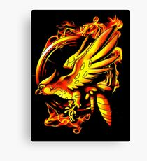 catching fire Canvas Print