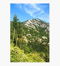 Lean In - A Mountain Lake Impression Photographic Print