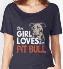 This Girl Loves Her Pitbull - Pit Bull T-Shirt For Women Women's Relaxed Fit T-Shirt