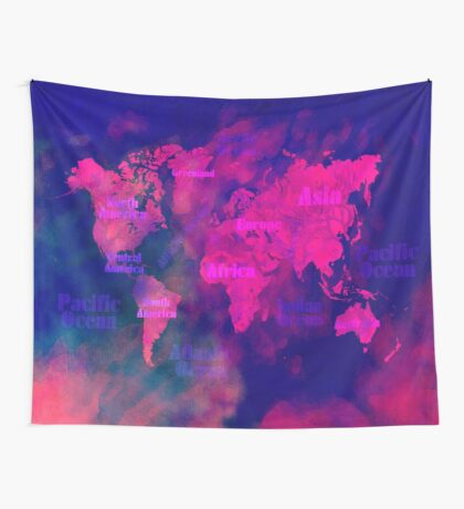 world map 114 3D #worldmap #map Wall Tapestry