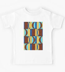 Brown blue and tan abstract electric design Kids Clothes