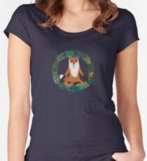 Fox Yoga Women's Fitted Scoop T-Shirt