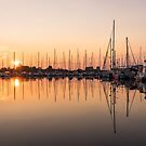 Symmetrical Peace - Catching the Sunrise at the Yacht Club by Georgia Mizuleva
